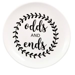 """NEW """"Odds & Ends"""" Round Trinket Tray"""